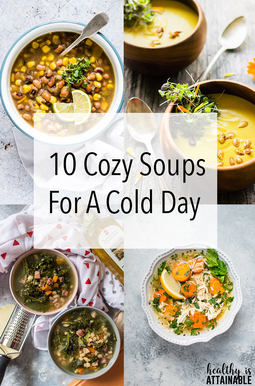 Soup, there's just something about that warms my soul, especially when it's freezing cold outside! Grab a bowl and spoon because today we have 10 cozy soups for you to make on a cold AF day.